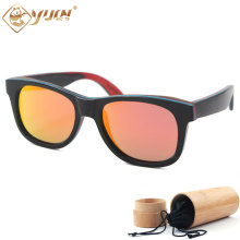 Ebony Skateboard Wood Frame Sunglasses High Quality Handmade Driving Sun Glasses Polarized Wooden Glasses With Case W108