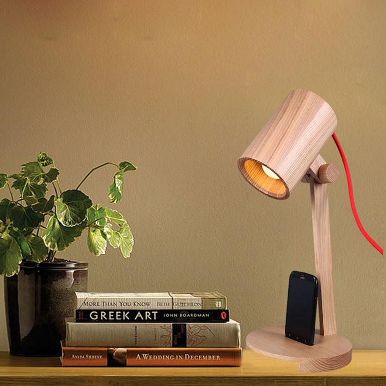 Art Deco desk lamps 1*E27 bulbs 40W wooden reading lights free shipping 16 inch art deco leopards bronze sculpture cubism panthers statue free shipping