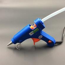 цена на For Hot melt glue 20W EU Plug Hot Melt Glue Gun Glue Stick Industrial Mini Guns Thermo Electric Heat Temperature Tool  NOV23