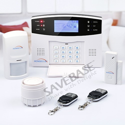 Здесь продается  HOMSECUR Wireless&wired GSM Home Security Alarm System +PIR Sensor+ Door Sensor(Russian Voice)  Безопасность и защита