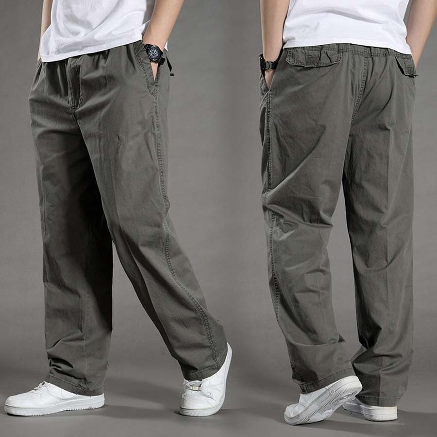 Big Size Casual Men Joggers Pants Straight Loose Wide