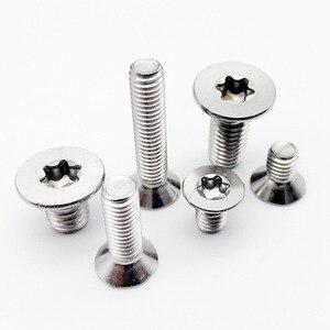 10/50pcs M1.6 M2 M2.5 M3 M4 M5 M6 M8 304 A2-70 stainless steel GB2673 Six-Lobe Torx Flat Countersunk Head Screw Six Lobe Bolt(China)