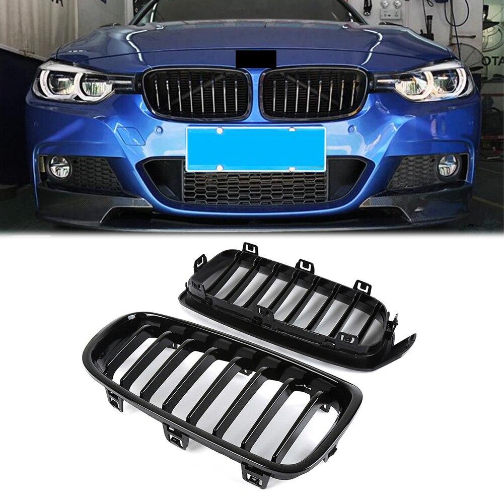 Grilles de calandre noir brillant ABS pour BMW série 3 F30 berline/F31 Wagon 316i 328i 335i 2012-2018