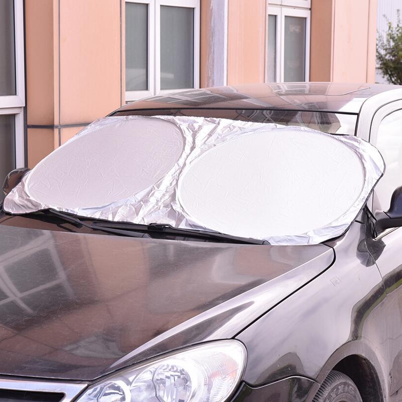HOT Folding Jumbo Front Car Window Sun Shade Auto Visor Windshield Block Cover S