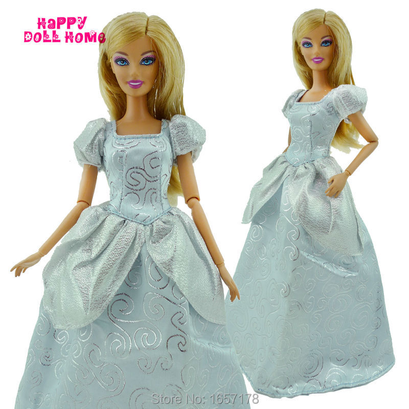 Princess Robe For Cinderella Wedding ceremony Celebration Costume Outfit Garments For Barbie Doll Equipment Faux Play Children Christmas Toy Reward
