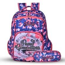 Новый рюкзак комплект с цветочным принтом рюкзак женщины Bookbags на среднем unversity школьные сумки для девочек-подростков
