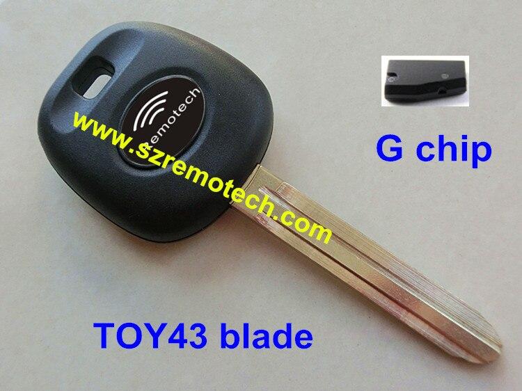 Rmlks транспондер брелок с 4D67/4D68/4C/G чип, пригодный для Toyota RAV4 Prado Camry Reiz горец режиссерский TOY43 лезвие ключа автомобиля