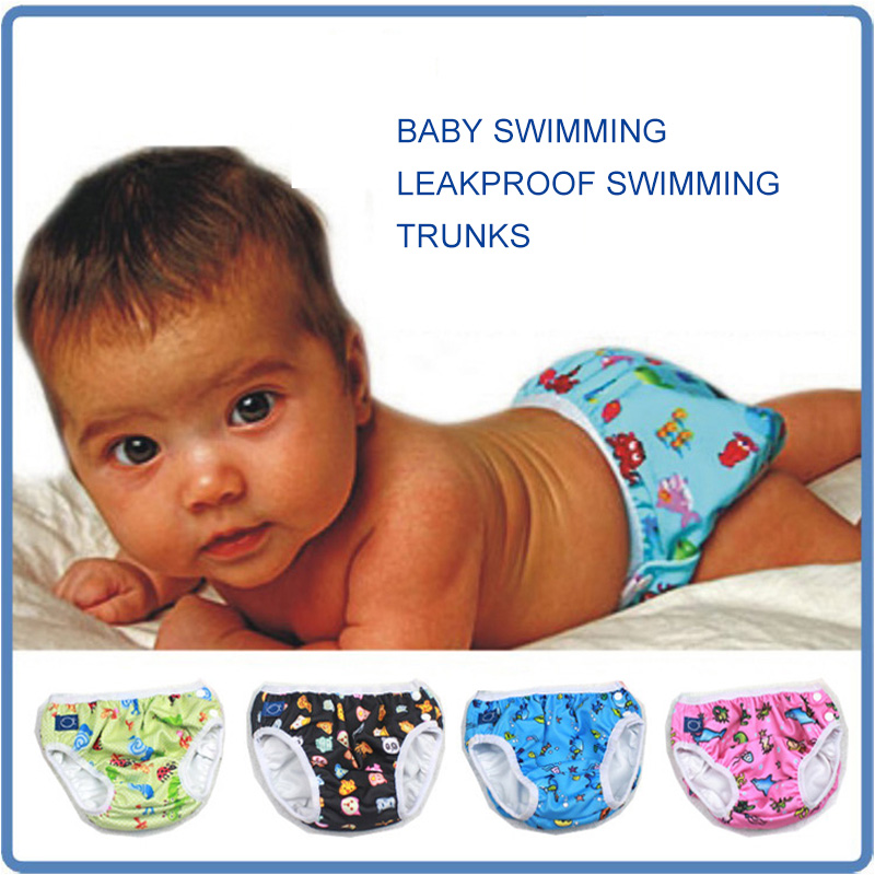 Baby Nappy Swimming Pants Toddler Infant Diapers Leak Proof Swimwear Reusable Swim Pants For Newborn Boys Diaper Clothing in Baby Nappies from Mother Kids