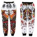 2015 Nuevos pantalones de La Manera cartas pantalones de chándal de impresión 3D hombres/mujeres hip hop pantalones hombre joggers pantalones talla M-XXL