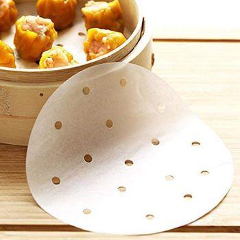 Najlepsza sprzedaż 200 sztuk frytownica wkładki 7 5 Cal papieru liniowej bambusowe naczynie parowe perforowany pergamin ekologiczne okrągłe mata do pieczenia tanie i dobre opinie Części do parowaru CN (pochodzenie)