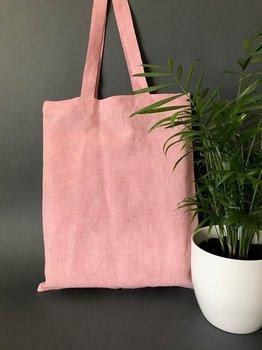 Pink Linen Customize Logo Tote Reusable Cotton Women Storage Shopping Bag Beach Handbags soild casual