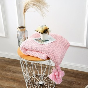 Image 3 - CAMMITEVER Baumwolle Decke Winter Warme Heimgebrauch Decken für Erwachsene Europäischen Gehäkelte Decke für Bett Sofa Werfen Teppich