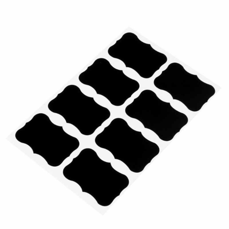 40 ชิ้น/เซ็ต 5x3.5 ซม. สติกเกอร์กระดานดำอาร์ตเวิร์กกระดานไวท์บอร์ดกระดานสีดำ