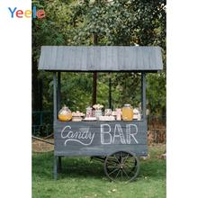 Yeele Forest Grassland Candy Bar Cart Baby Birthday Photography Backgrounds Customized Photographic Backdrops for Photo Studio