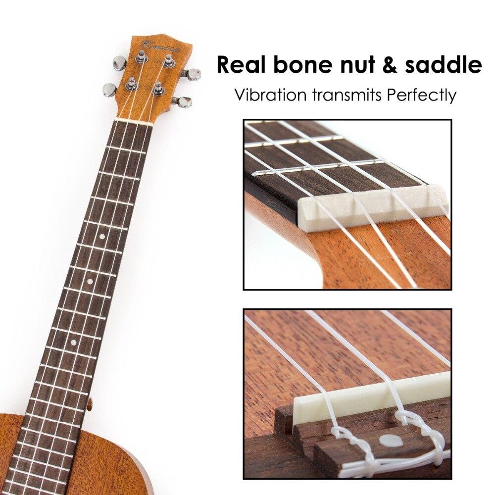 Kmise baryton ukulélé 30 pouces acajou Ukelele Uke 4 cordes Hawaii guitare - 5