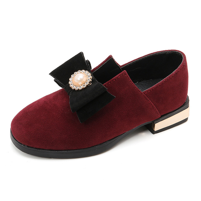 New Fashion 2018 princess single shoes girls Bowknot childrens shoes autumn and spring Children Flat shoes