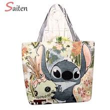 Fashion Cartoon Embroidery Women Handbags Cute Canvas Female Shoulder Bags High Quality Women Tote Bag Casual Large Capacity Bag