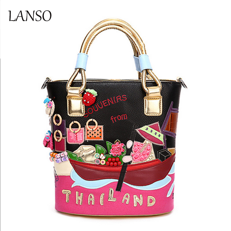 2017 New Women Messenger bags Women's Buckets Bags Embroidery Handbags Art Retro Handmade for Feminina Ladies Cute girls 100 super cute little embroidery chinese embroidery handmade art design book