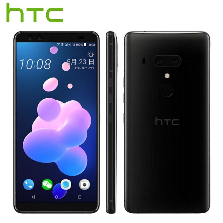 Vente chaude HTC U12 Plus 4g LTE Mobile Téléphone 6 gb 128 gb/64 gb Android 8 Snapdragon 845 Octa Core 6.0 pouce 2 k Écran IP68 Téléphone Intelligent
