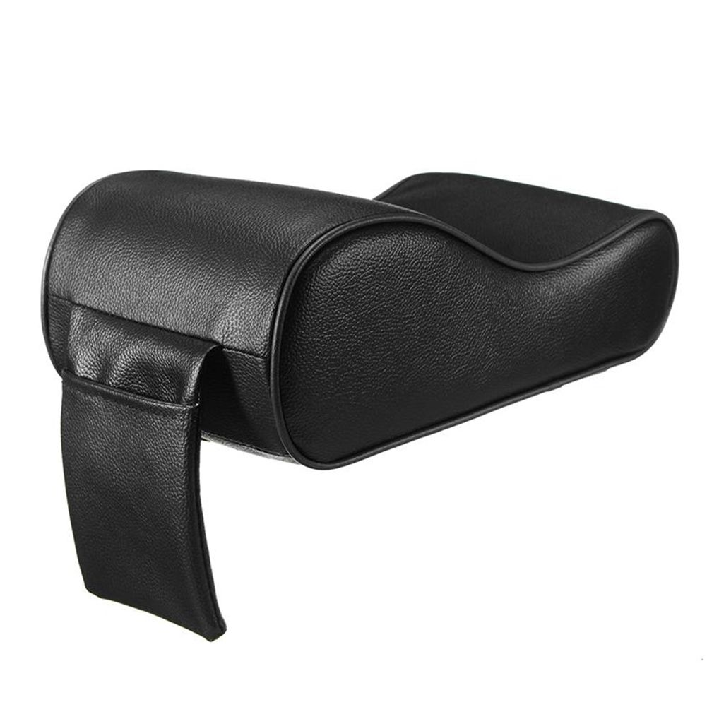 PU Leather Car Armrest Pad Memory Foam Universal Auto Armrests Covers with Phone Pocket for BMW/Audi/Honda