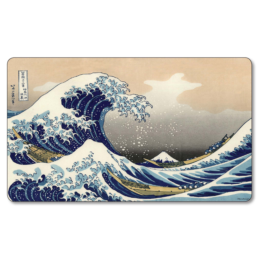(The Great Wave playmat) proxy Cards mgt Playmat,Magical Card mgt tcg Games Gather Play Mat Lands Cards Playmats
