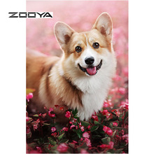 ZOOYA Diamond Painting Dog Full Drill 5D Embroidery Sale Mosaic Picture Rhinestones Needlework DIY Decor RF1884