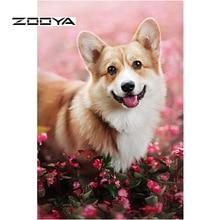 ZOOYA Diamond Painting Dog Full Drill 5D Embroidery Sale Mosaic Picture Rhinestones Needlework DIY Decor RF1884