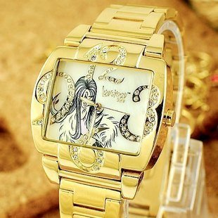 wholesale fashion watch/brand watch LuscigusGirls-Colorful new diamond watch 9681