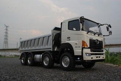 LESU 1/14 RC Hino700 8*8 Toutes roues Motrices Métal Hydraulique Dumper Camion Modèle ESC