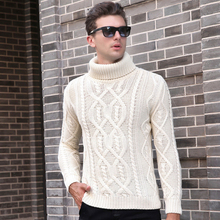 2017 New Men's Clothing Fashion Sweater Pullover Thick V Neck Knit Tops Color Warm Basic Knit for Autumn Winter 9032