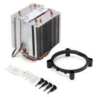 최신 울트라 조용한 컴퓨터 CPU 쿨러 팬 CPU 쿨러 히트 싱크 네 히트 파이프 라디에이터 인텔 LGA775 코어 i7 AMD FM2 AM