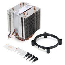 Newest Ultra Quiet Computer CPU Cooler Fan CPU Cooler Heatsink Four Heat Pipe Radiator For Intel LGA775 Core i7 AMD FM2 AM