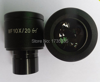 1 pair 2pcs Mounting Size 23.2mm WF10X 20mm High Eye Pionts Wide Field Eyepiece Optical Lens for Biological Microscope