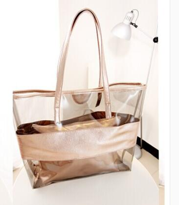 Free shipping 2018 Tanya tui The Personality Transparent Parent Bag Simple Fashion Trend Crystal Transparent Beach Handbag-in Shoulder Bags from Luggage & Bags    1