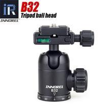 лучшая цена B32 B-32 Camera Video Tripod Ball Head 360 Degree Rotating Panoramic Ballhead standard 1/4 inch screw Arca-swiss For Canon Nikon
