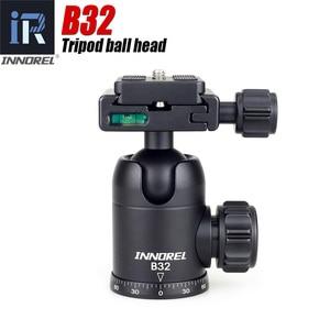 B32 B-32 Camera Video Tripod Ball Head 360 Degree Rotating Panoramic Ballhead standard 1/4 inch screw Arca-swiss For Canon Nikon
