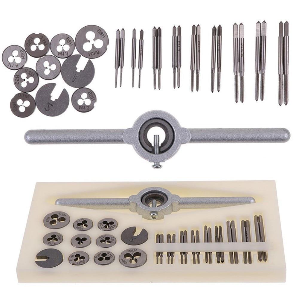 Handwerkzeuge 8 Stück Tap Sterben Set Schraube Gewinde Carbon Hand Schraube Wasserhähne Einstellbare Wasserhähne Stirbt Schlüssel Tap & Sterben
