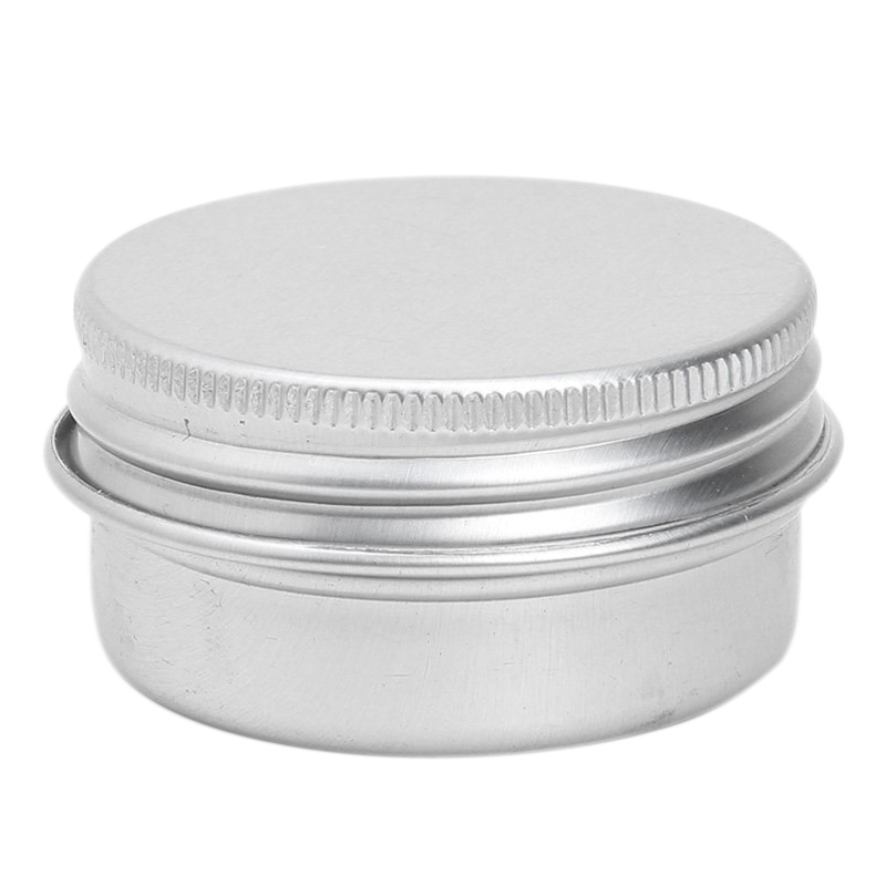 1 X Empty Cosmetics Pot Lip Balm Tin Jar Container Screw 50ml