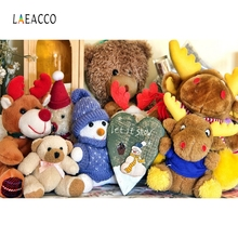 Laeacco Plush Toys Beers Backdrop Children Portrait  Photography Background Customized Photographic Backdrops For Photo Studio