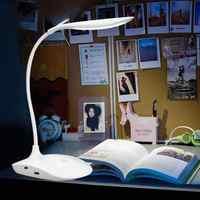 600LUX Helligkeit 360 grad Faltbare USB Aufladbare Touc h Sensor Tabelle LED Lampe 3 ebene Dimmbare Lesen Studie Schreibtisch Licht