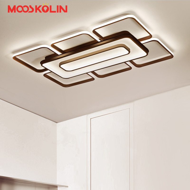 Surface Mounted Modern Led Ceiling Lights For Living Room luminaria Bedroom Fixtures White/Coffee Indoor Home Dec Ceiling Lamp цена