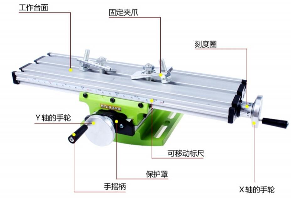 Детали для деревообрабатывающего оборудования миниатюрный Прецизионный Многофункциональный фрезерный станок пляжный сверлильный винтовые тиски Рабочий стол