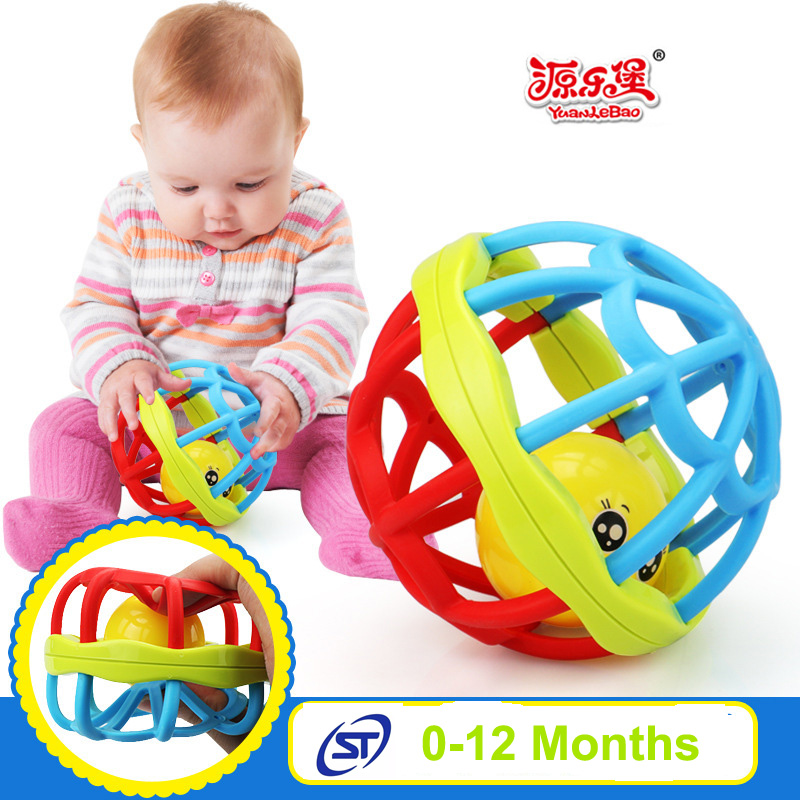 Kids Educational soft toys Baby Rattles 0-12 months Puzzle Grasping Gums Plastic Hand Shake Bell Ring Toy baby rattles mobiles
