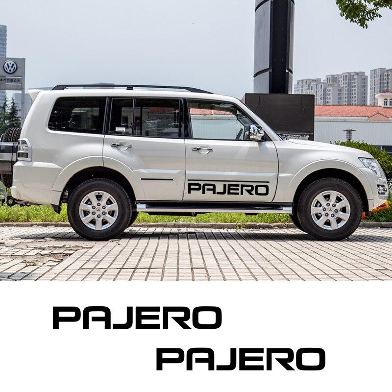 2 Sides Graphics Vinyl Sticker Decal For Mitsubishi Pajero Car Door Stripes