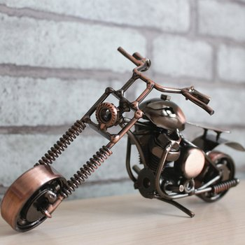 Creative Metal Motorcycle Sculpture Decoration Craft Modern Iron Art Motorcycle Home Decor Nice Moto Ornament For Home & Bar