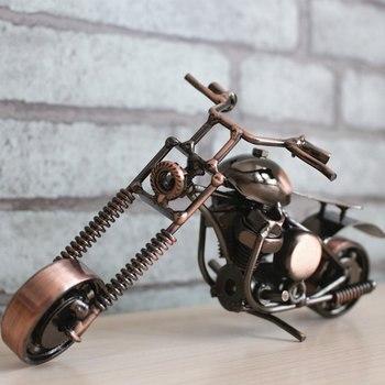 Creativo Metal motocicleta escultura decoración arte hierro moderno motocicleta decoración del hogar bonito adorno de Moto para el hogar y el Bar