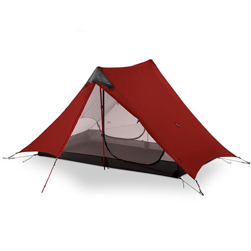 3F UL VITESSE LanShan 2 Personne Camping Tente Ultra-Léger 3 Saison Tente En Plein Air Matériel de Camping 2018 nouveau noir/rouge