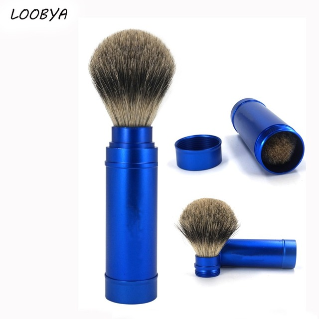 Badger Shaving Brush Telescopic Beard Brush for Man Travel Shave Tool Father Gift