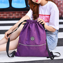 New Korean fashion leisure sports bag ladies shoulder washed cloth solid color womens