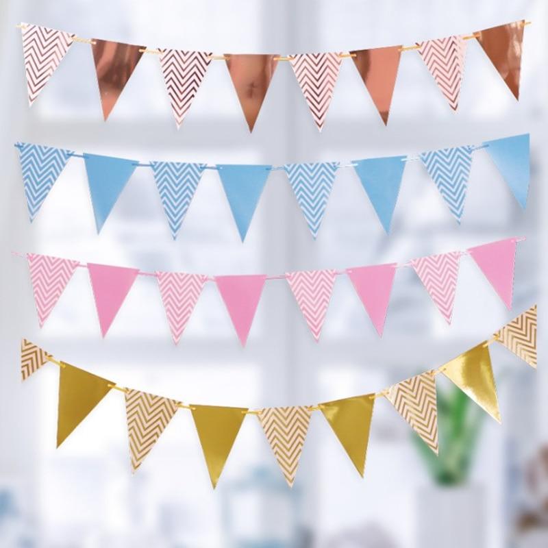 Золотой Серебряный флаг, баннер, гирлянда, сделай сам, блестящий бандаж, бумажный баннер на день рождения для дома, для мероприятий, вечерино...